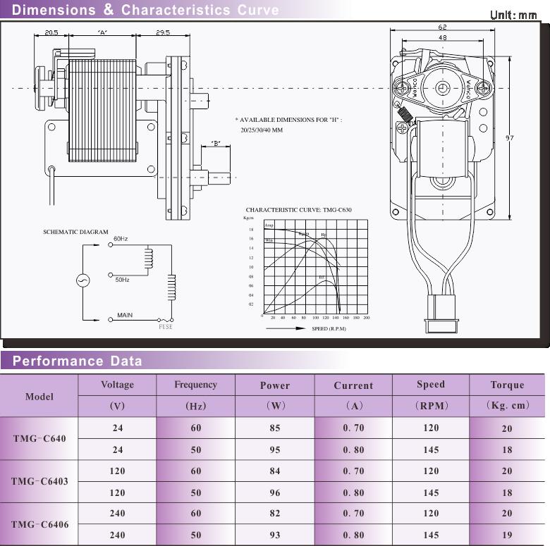 TMG-C6 GEAR MOTOR | GEAR MOTOR | Products | Wanco Motor Industries Ltd